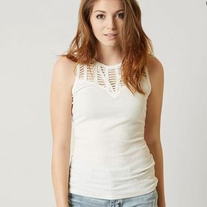 Strappy Ribbed Tank Top